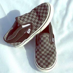 VANS Checker Board Blk/Gray Sneakers Toddler 10
